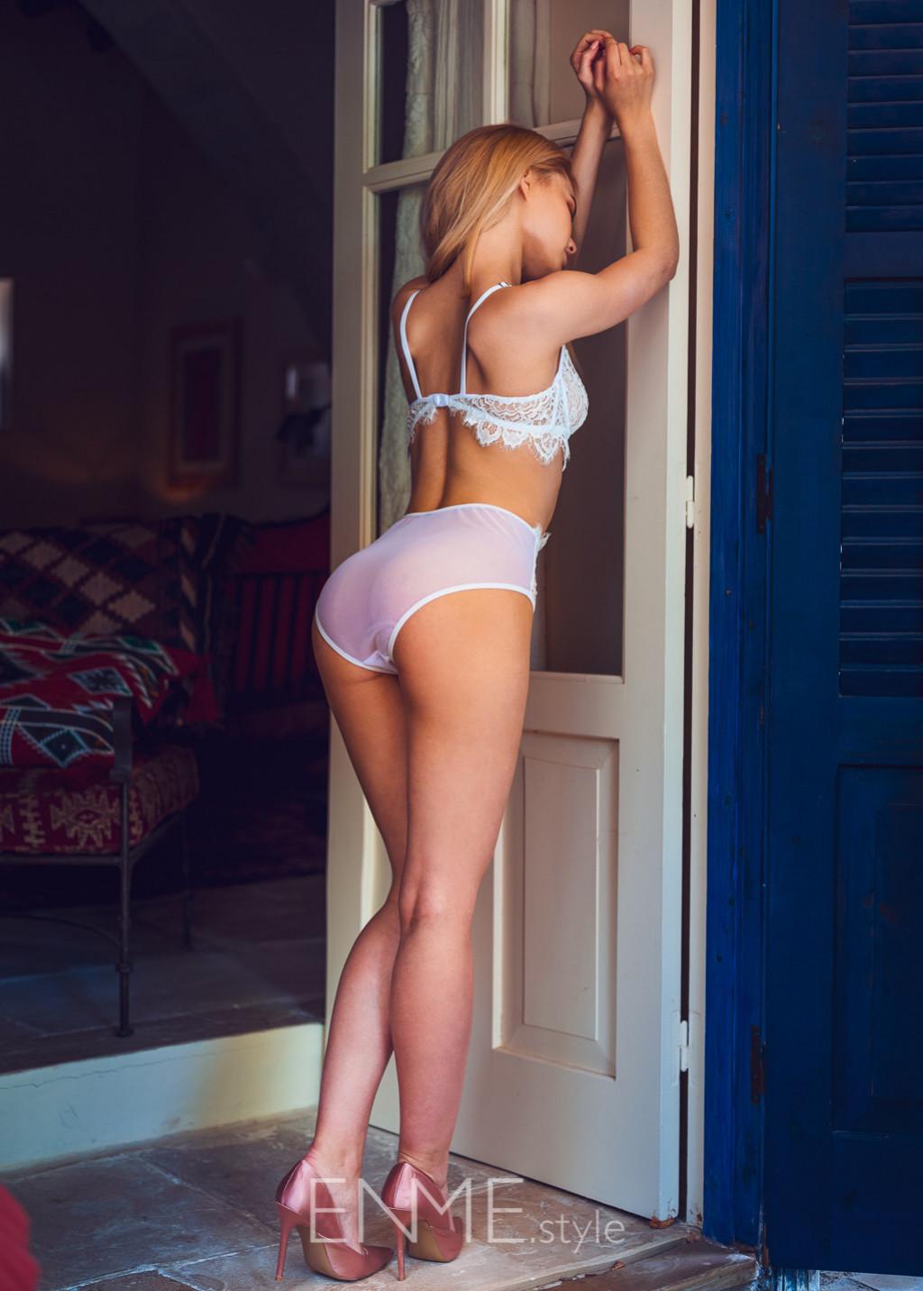 White Balconette And High Waist Bikini In Lace
