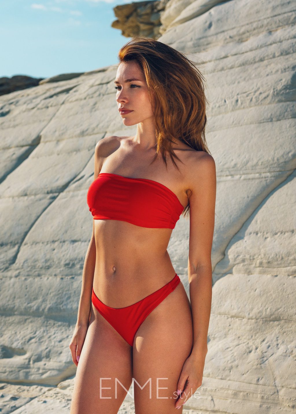 Red Bandeau Top